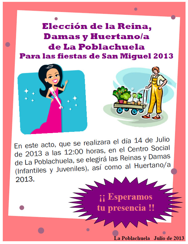 Cartel reina-huertano 2013