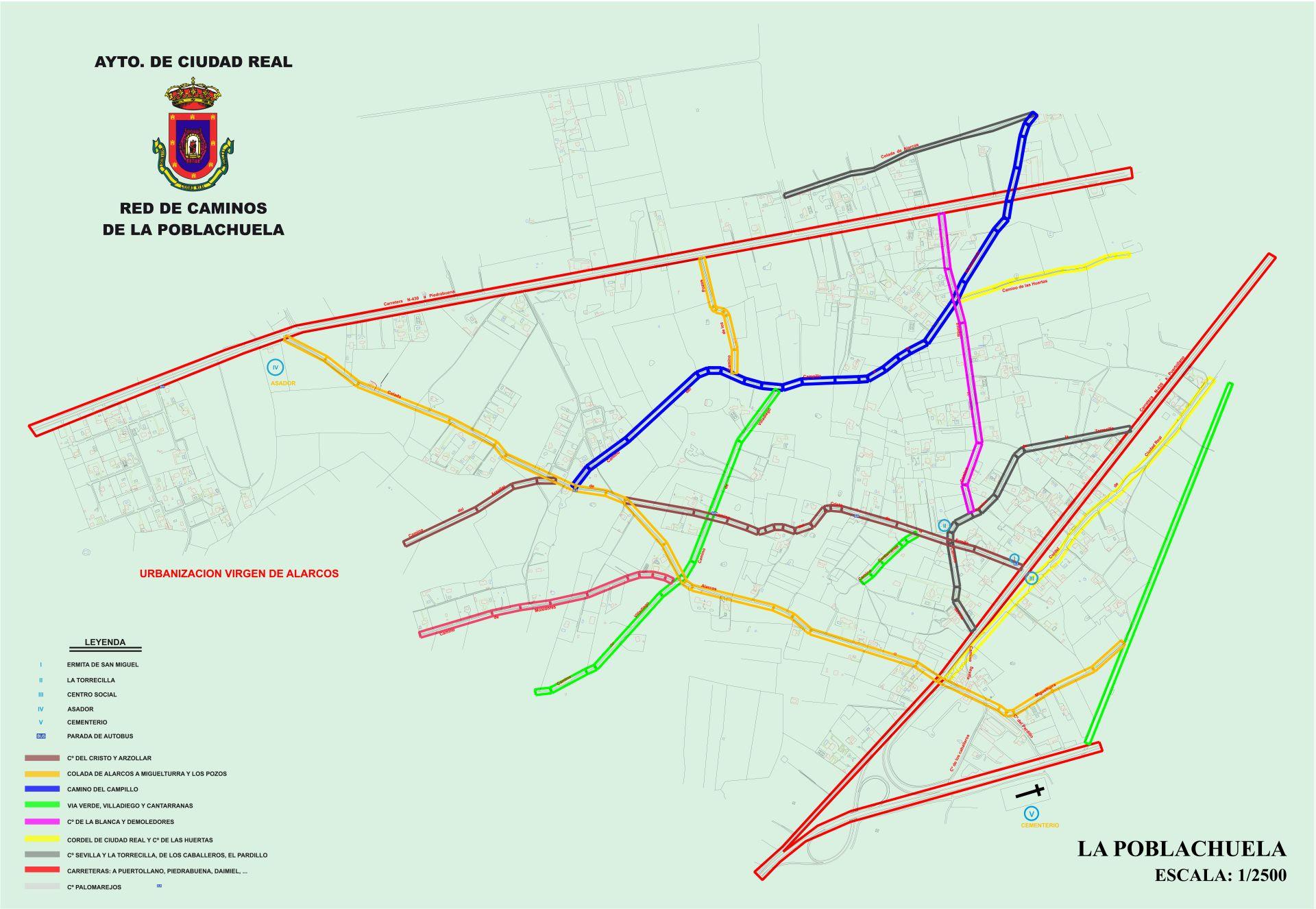 Plano Caminos  La Poblachuela - 2-2